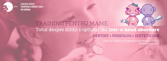 training stomatologie pediatrica pentru mame.